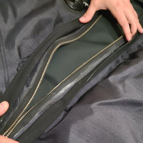 Diving Drysuit Zipper open